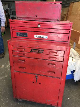 Photo Snap On Tool Cabinet With Snap on Goodies Inside - $900 (Buena Vista)