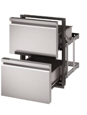 Photo Stainless Steel Basic Double Drawer Unit for Grill Island or Kitchen - $575 (Englewood)