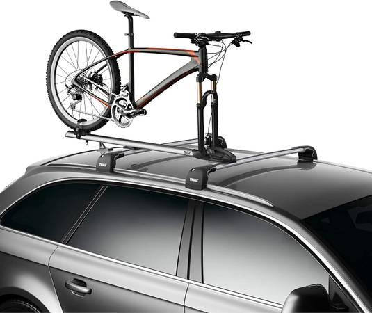 Photo Thule wingbar, foot pack and bike rack - $500 (Silverthorne)