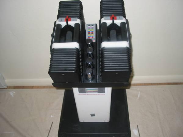 Photo Update Powerblock dumbbells w stand 250 lbs, pair - $700 (El Jebel)