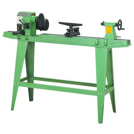 Photo 12 In. X 33-38 In. 34 HP Wood Lathe With Reversible Head - $235 (Riddle)