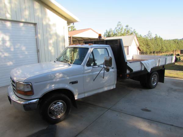 Photo 1994 Ford F350 Dually Flatbed - $7600 (Roseburg)
