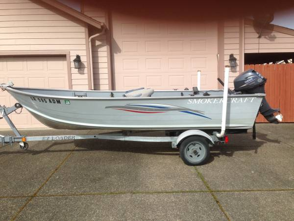 2008 Smokercraft Alaskan 15 ft. aluminum Boat - $5000 (Sutherlin
