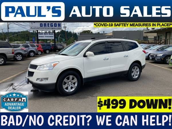 Photo 2011 CHEVY TRAVERSE LT AWD SUV 3RD ROW SEATING  - $11,990 (BAD CREDIT IS NO PROBLEM HERE)