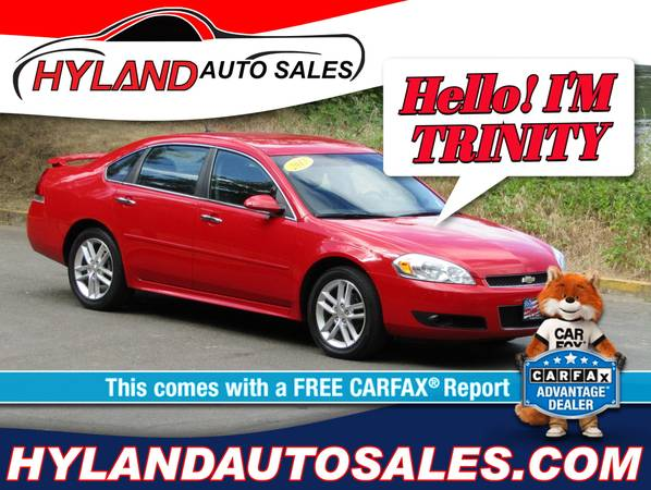 Photo 2013 CHEVY IMPALAHEATED SEATSONLY $500 DOWN  HYLAND AUTO SALES - $9995 (CARFAX ADVANTAGE DEALERREDUCED PRICE)