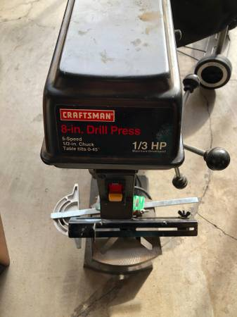 Photo Craftsman 13 HP 8 Drill Press - $75 (Roseburg)