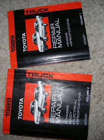 Photo Factory 1989 Toyota Truck Manuals - $75 (Florence)