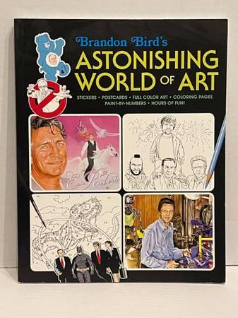 Photo NEW Brandon Bird39s Astonishing World of Art An adult coloring book  m - $5 (Albany - porch pickup off Waverly near Lexington Park)