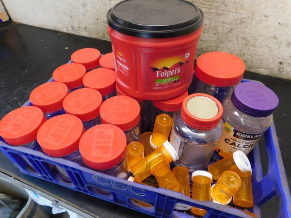 Photo PB Jars, pill vials, etc - looking for a home where they can by useful (Eugene)