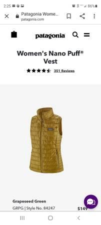 Photo Patagonia Nano Puff Vest-Women39s - $120 (Roseburg)
