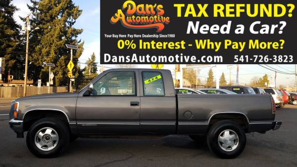 Photo We APPROVE you with your TAX RETURN 1993 Chevrolet k2500 Ex Cab 4x4 - $799 (DOWN$279 Interest FREE Financing for 15 Months  Ownership)