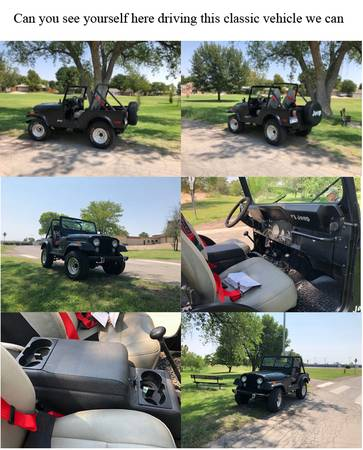 Photo 1979 Jeep CJ5, low miles, 6-258 CID Holley 2BC, 31x10.50R15 Tires - $10,500 (Roswell)