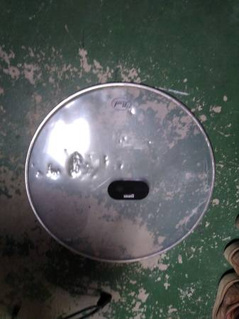 Photo 22-in bass drum batter head used condition no holes or tears - $10 (Albuquerque)
