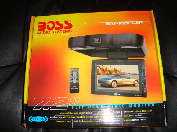 Photo BOSS 7.2quot Flip Down Video Monitor - $60 (East Side)