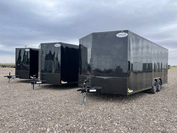 Photo Blacked Out Enclosed Car Haulers - 8.5X20, 8.5X24, 8.5X28 - 7ft Tall - $11,995 (Lubbock)