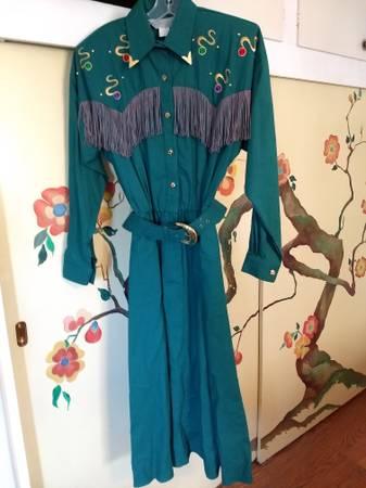 Photo Emerald green country dance dress - $70 (Abq)
