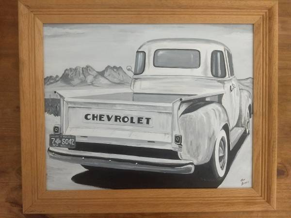 Photo Old Chevy Truck Painting - $100 (Las Cruces)
