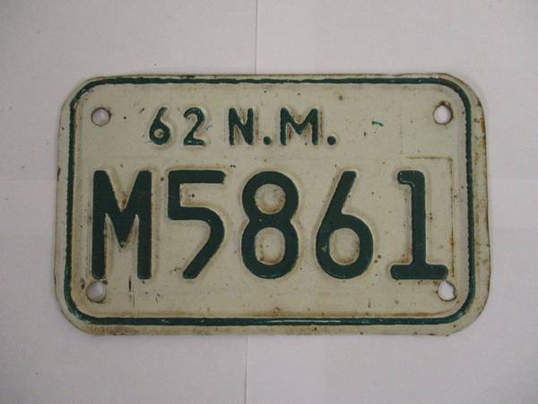 Photo Want to buy 1975 and older New Mexico motorcycle plates (Roswell)