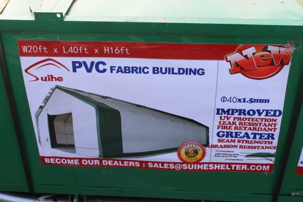 20x40x16 Pv Fabric Building Canopy Shelter Double Truss Carport