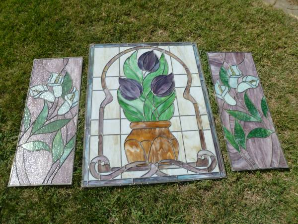 Photo 3 Piece Stain Glass - $850 (Granite Bay)