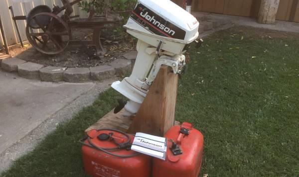 Photo 6hp Johnson outboard motor - $600 (Woodland)