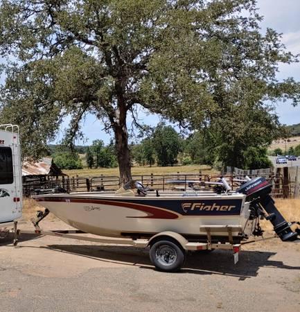 Photo 99 Fisher Avenger Aluminum 16ft Fishing Boat - $5,500 (Auburn)