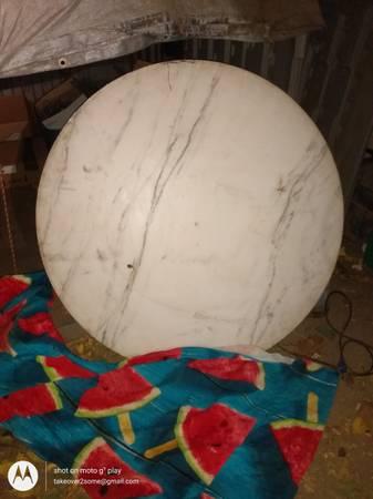 Photo Antique Thick White marble 42quot round - $150 (Sacramento)