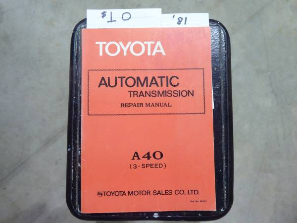 Photo Authentic Factory Issued 1981 Toyota Auto Transmission Manual - $10 (penryn)