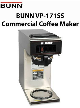 Photo BUNN VP17-1 STAINLESS STEEL COMMERCIAL POUR-OVER COFFEE BREWER, BNIB - $199 (Folsom)