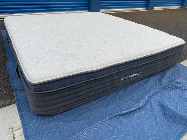 Photo Brand New Cal King Size Mattress Helix Midnight Luxe Can deliver - $1,200 (Sacramento)