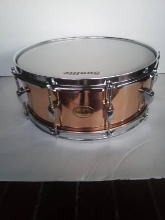 Photo Brand New Sunlite Copper SNARE DRUM - $150 (Sacramento)