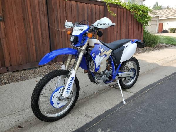 Photo CA street legal Yamaha WR450F - $4,750 (Rocklin)