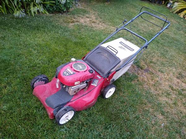 Photo Craftsman 21quot self propelled lawn mower 6.75 HP - $100 (North Laguna Creek  Elk Grove)