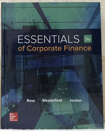 Photo Essentials of Corporate Finance Hardcover - College Textbook - $40 (Sacramento)