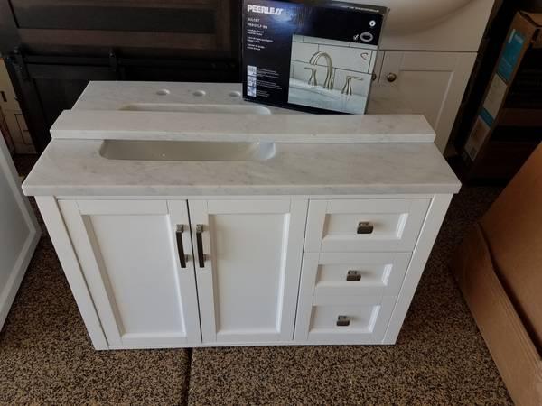 Floating 36 X 22 White Bathroom Vanity Cabinet Combo New 360 Folsom Materials For Sale Sacramento Ca Shoppok