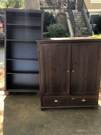 Photo Free Matching Bookshelf and TV Armoire (East Sacramento)