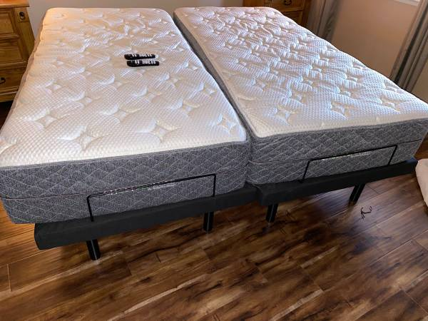 Photo Ghost bed lux Adjustable bed Mattress King size bed - $2,200 (Sacramento)