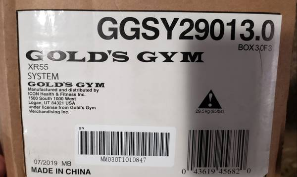 Photo Golds Gym XR55 weights 3 new boxes - $180 (Sacramento)