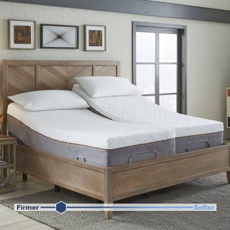 Photo King Size Bed  Sleep Science split king adjustable bed  Free deliver - $2,200 (Sacramento)
