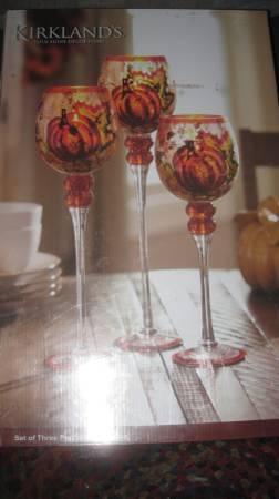 Photo Kirkland39s Autumn Harvest 3 Piece Glass Votive Set - $45 (Folsom, CA)