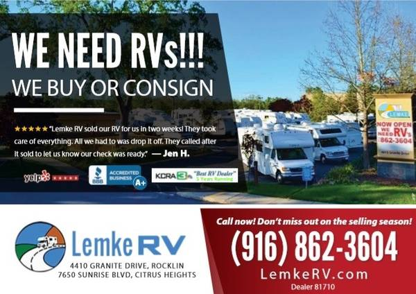 Photo LET US BUY OR SELL YOUR RV - VOTED 1 RV DEALER - 2 LOCATIONS (Citrus Heights)