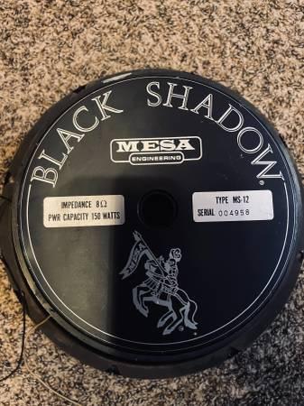 Photo Mesa boogie 12 black shadow eminence ms-12 - $40 (Fair oaks)