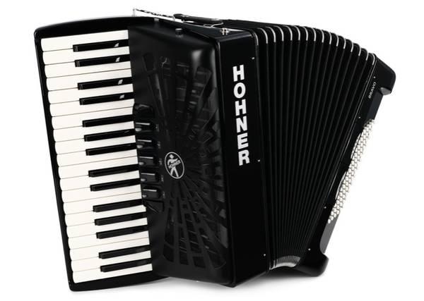 Photo NEW Hohner Bravo III 72 Chromatic Piano Key Accordion - Jet Black - $1,250 (Rocklin)