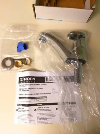 Photo NEW - MOEN Commercial M-PRESS Chrome Single Handle Faucet 8884 - $40 (Roseville)