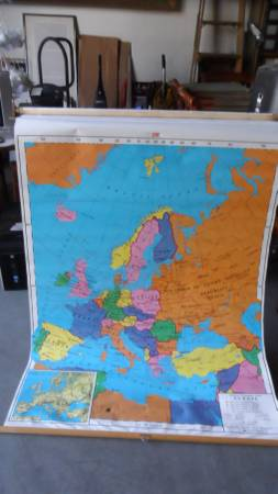 Photo Nystrom Wall mounted Map of Europe - $200 (Sacramento CA)