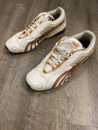 Photo Puma Cell Running Shoes Size 12 Athletic Shoes OrangeWhite. - $35