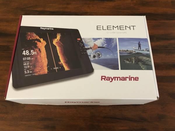 Photo Raymarine Element 12quot Chirp SonarGPS - $1,200 (Sacramento, CA)