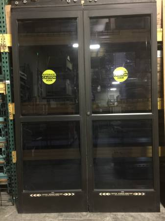 Photo Stanley Automatic Door Store Front Electric Entry Entrance Glass Doors - $1000 (Rancho Cordova)