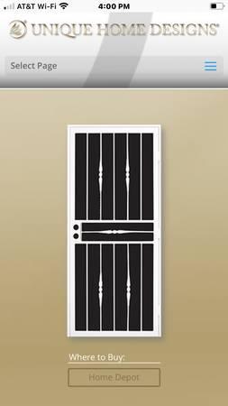 Photo Steel Security Door Navajo White - $150 (Fair Oaks)