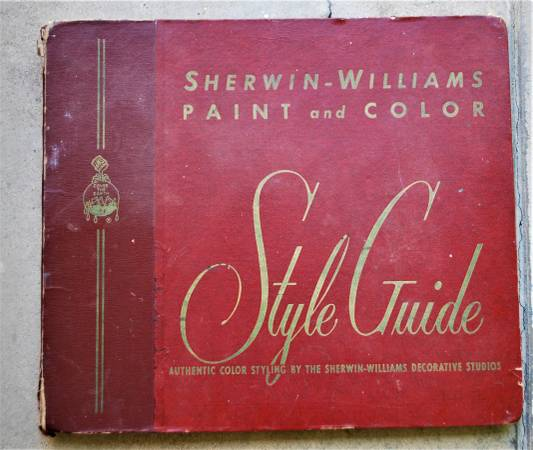 Photo Vintage 1950 Sherwin-Williams Paint and Color Style Guide - $60 (sacramento)